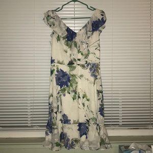 DKNY Floral Midi Dress